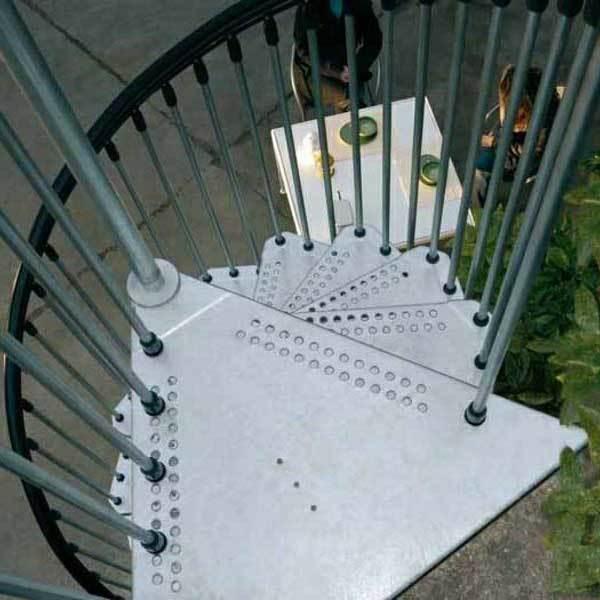 Винтовая лестница Civik Zink (оцинкованная)