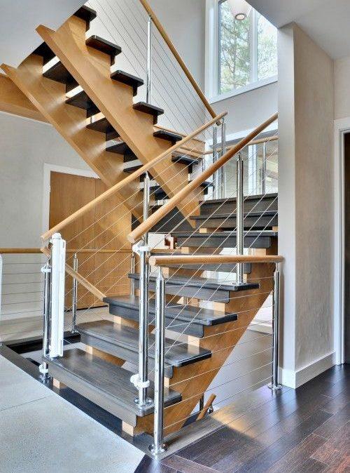 Комбинированная дубовая лестница