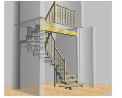 Устройство металлической лестницы