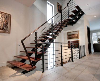 Расчет косоура металлической лестницы